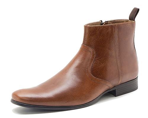 Red Tape - Botas de 100% Piel para Hombre, Color marrón, Talla 42.5: Amazon.es: Zapatos y complementos