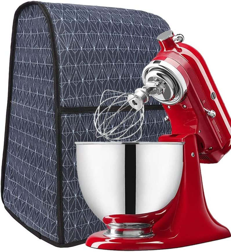 Kitchen Aid Mixer Cover,Stand Mixer Dust Cover,Practical Kitchen Small Appliances Cloth Cover With Spacious Pockets For Storage Mixer And Extra Accessories,Compatible With 4.5-Quart And 5-Quart Mixer