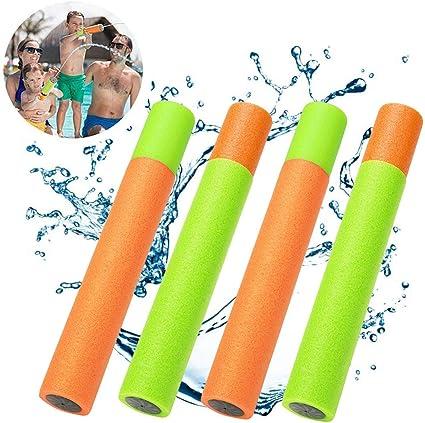 Pack of 4 Guilty Gadgets Pump Shooter Water Fill Fun Pool Soaker