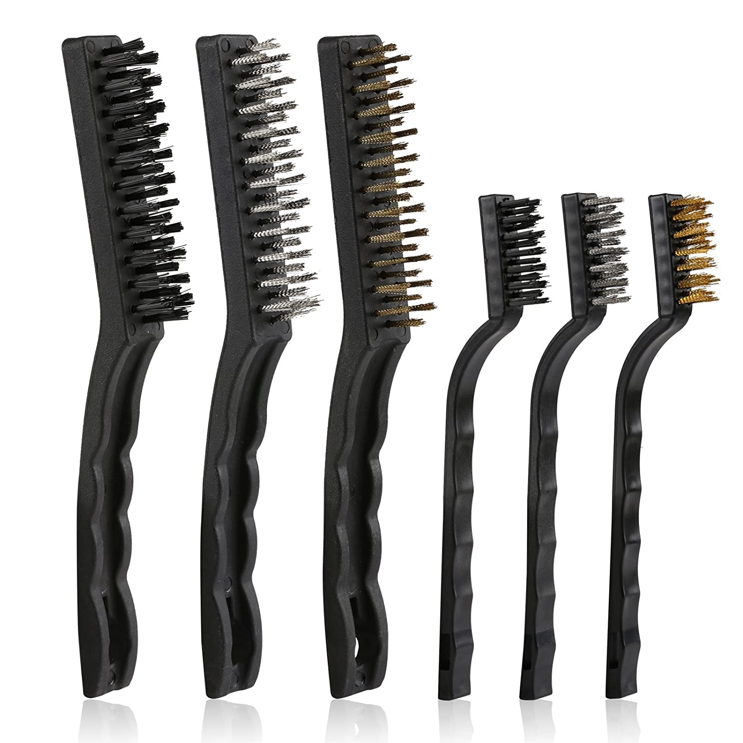 12 Stainless Steel Wire Brush Cleaning Detailing Rust Paint Remove Tooth Brushes