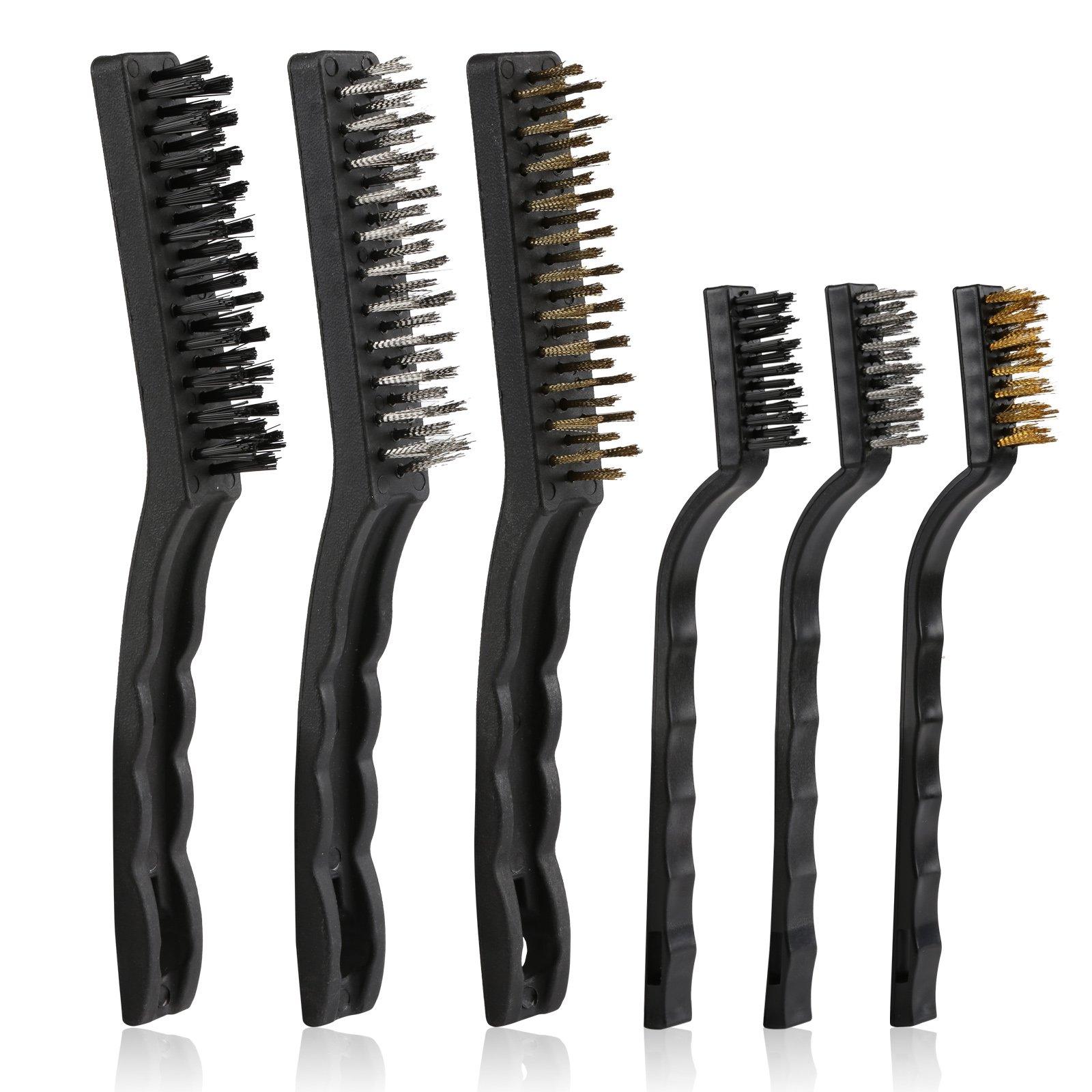 0.012 Carbon Steel 4-1//2 Brush Part Length 1-3//4 OD PFERD 89654 2 Double Spiral Flue Brush