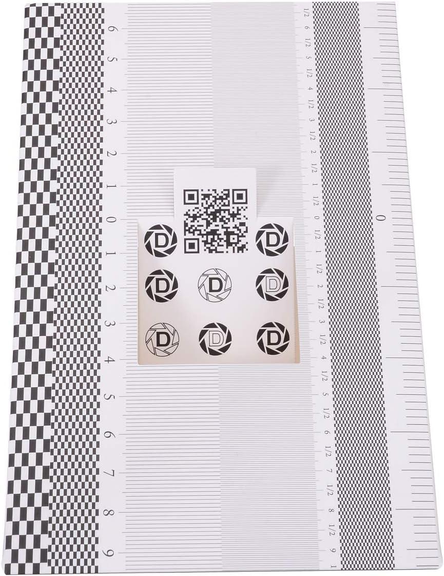 MYAMIA Folding Card Lens Focus Testing Tool Professional Calibration Alignment Af Adjustment Ruler Chart