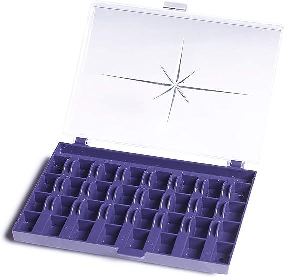 Prym Caja para bobinas 3 x 13 x 16 cm, 32 compartimentos