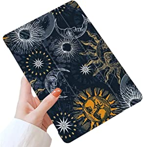 """LuGeKe Space Planets Smart Case for iPad Pro 11 2020 & 2018, Sun and Moon Patterned Case Cover,Lightweight Slim Standing Cover with Soft TPU Back Cover for iPad Pro 11"""", Moon Outer Space"""