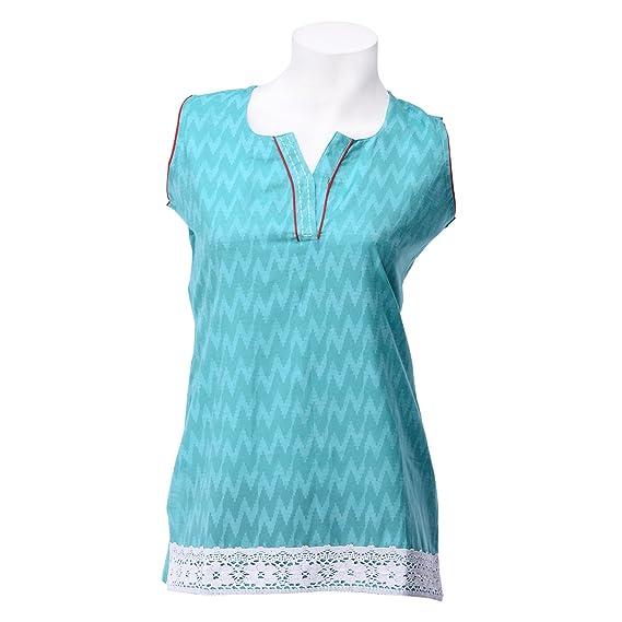 Buy Olivia Women's Sea Green Short Kurti Sea Green at