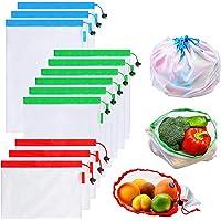 Bolsas Reutilizables Compra, Vagalbox Unidades Ecológicas Bolsa de Malla, para Almacenamiento Frutas/Verduras, Juguetes…