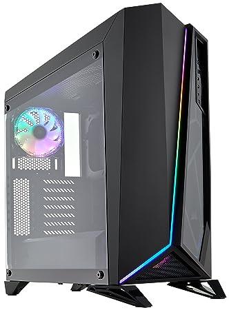 lowest price 3cc1c 480e9 Corsair Carbide SPEC-OMEGA RGB Tempered Glass Mid-Tower ATX Gaming Case -  Black