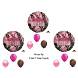PINK MOSSY OAK Camouflage Happy Birthday Party Balloons Favors Decorations Supplies