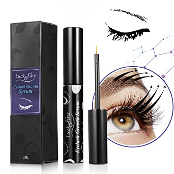 3f5c26f921b Eyelash Growth Serum, LuckyFine Natural-Eyelash Enhancer Serum For Fuller &  Thicker Lashes &