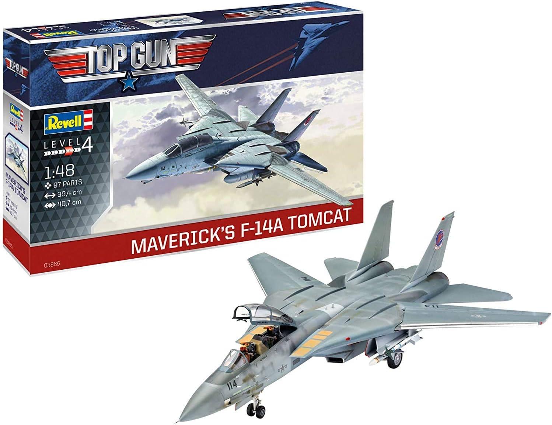 Revell-F-14 A Tomcat Top Gun Maqueta Fiel al Original para avanzados, Color Plateado (RV03865): Amazon.es: Juguetes y juegos