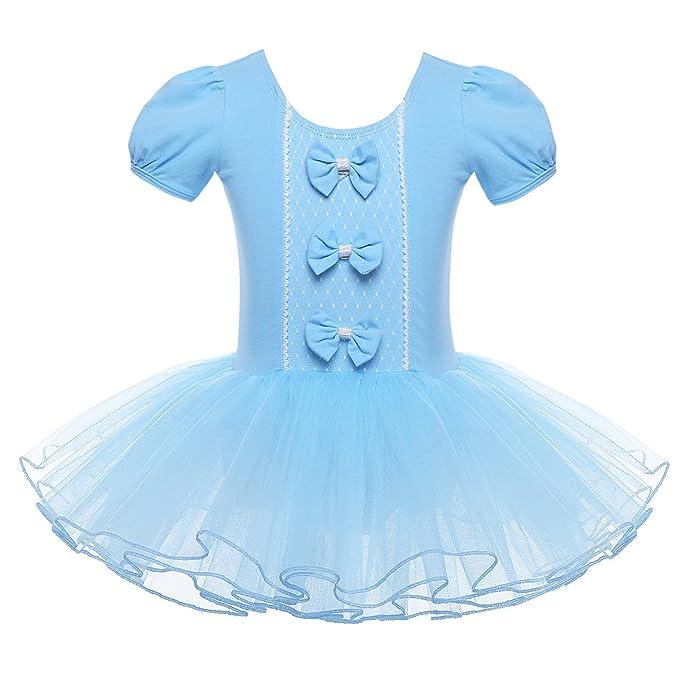 iEFiEL Vestido Maillot de Danza Ballet para Niña Vestido Elegante de Princesa Clásico Tutú con Braguita