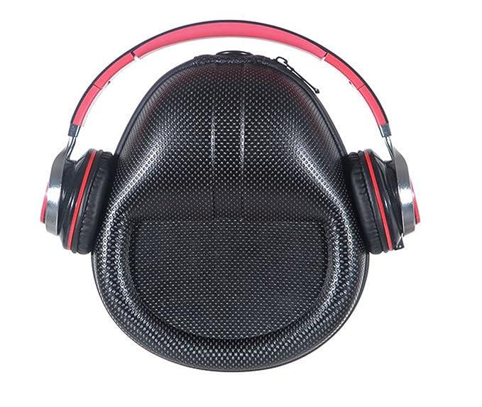 Protección para transportar auriculares, maletín rígido, maletín de viaje, maletín rígido forrado para