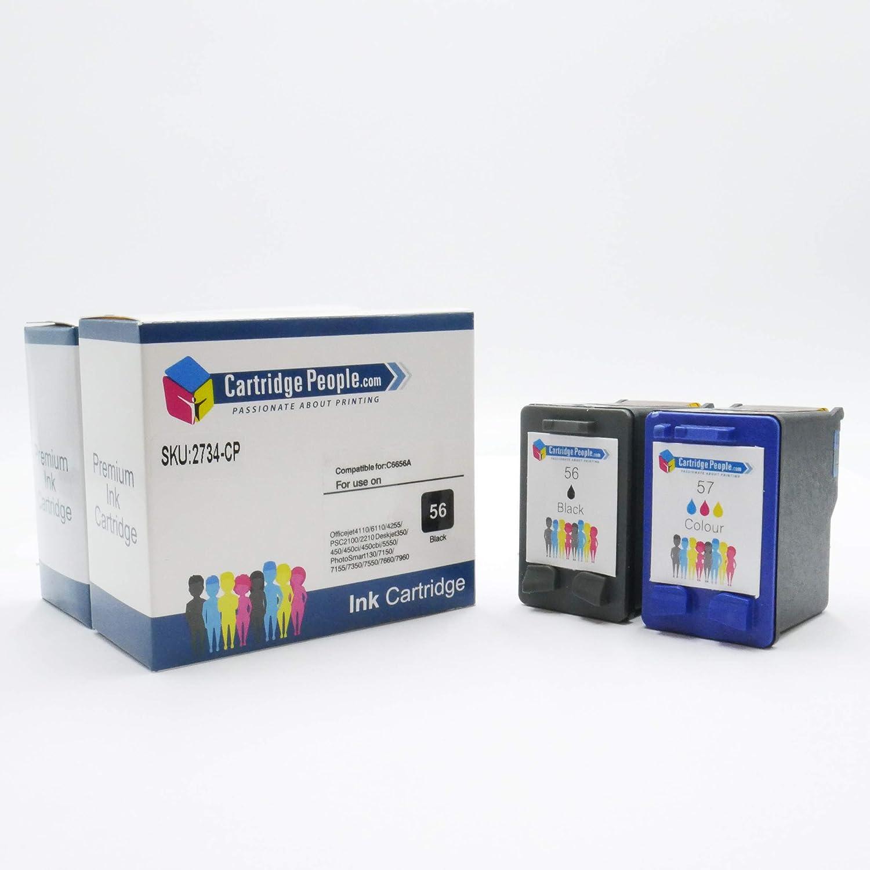 Cartuchos de Repuesto para HP 56/57 (C6656AE / C6657AE) Cartuchos ...