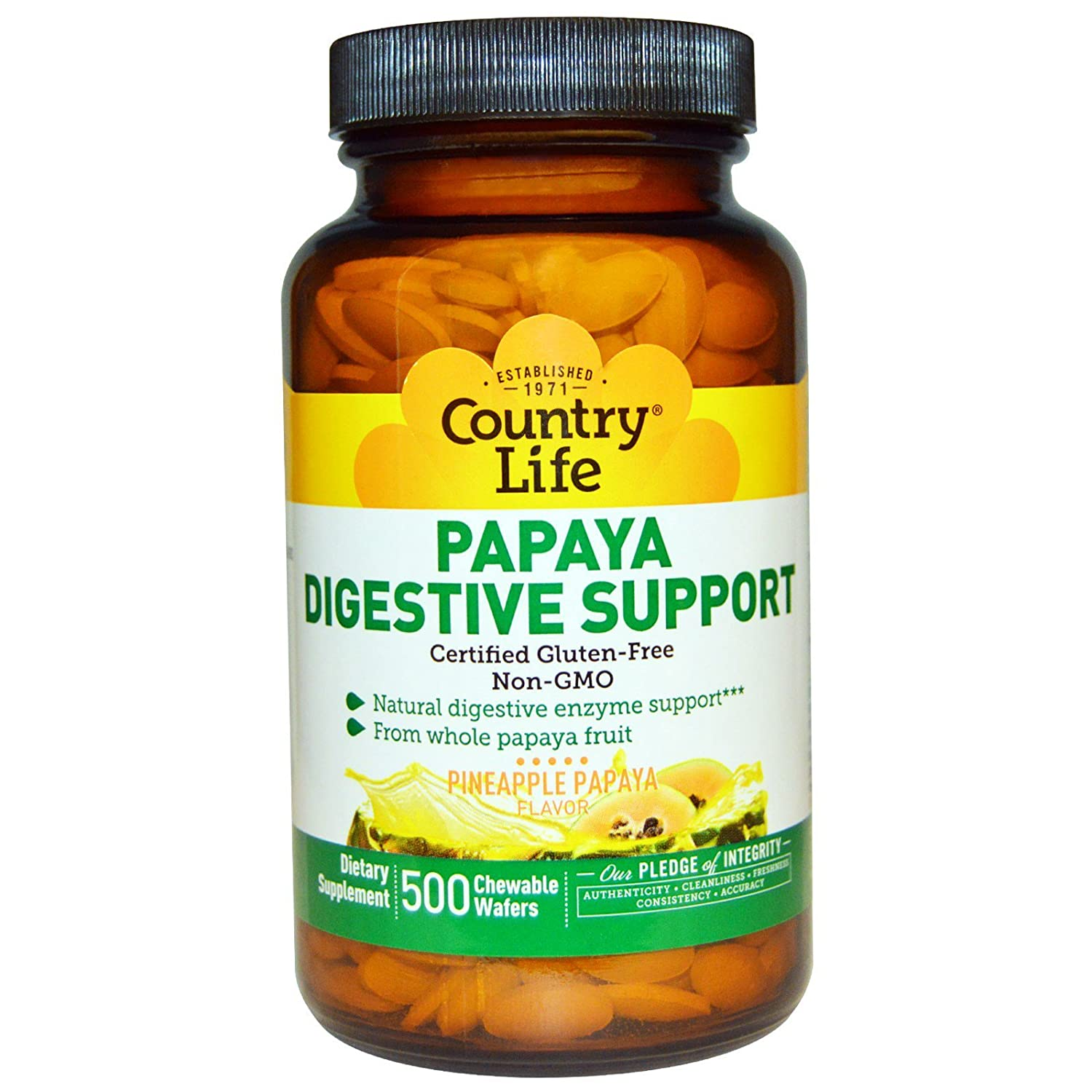 Amazon.com: Country Life, soporte digestivo Papaya, sabor ...