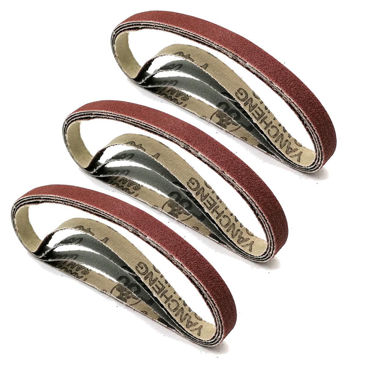 x 13in 120 Grit 10 Pack of 3//8in Air Sander Sanding Belts