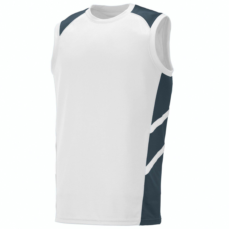 Augusta Sportswearメンズ斜めノースリーブジャージー B010KBQOHG 3L|White/Slate/White White/Slate/White 3L