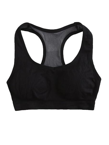 b885a109178ad SweatyRocks Women s Cross Back High Impact Padded Racerback Sports Bra Yoga  Workout Tank Top (Small