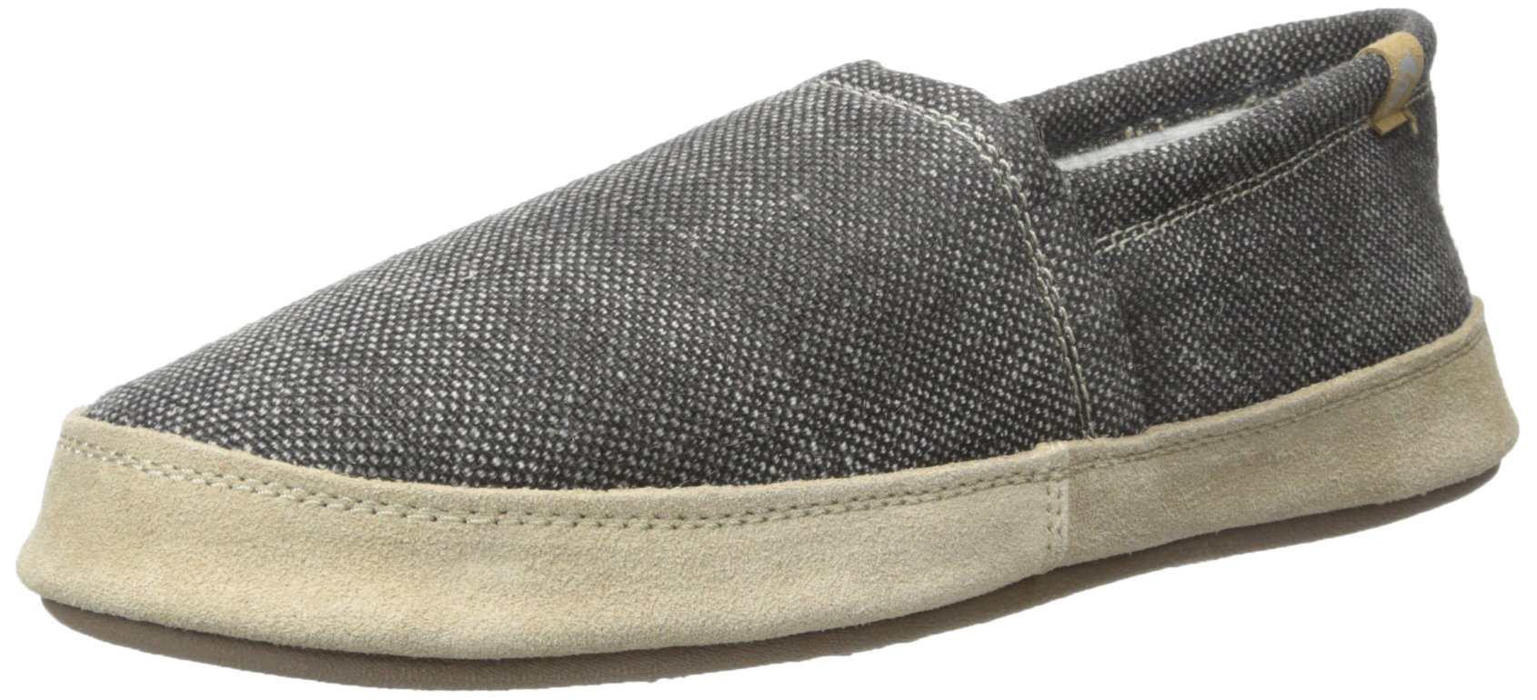 Acorn Men's Summerweight Moc Slipper,Stone Wash/Black Canvas,Small/7.5-8.5 M US