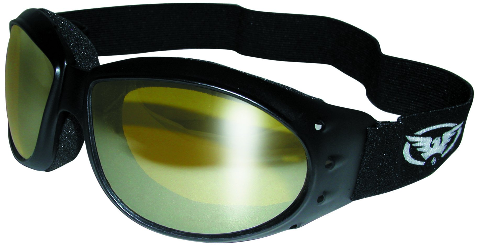 Global Vision Eyewear Eliminator Goggle Series Sunglasses Yellow Tint Mirror Lenses Storage Pouch