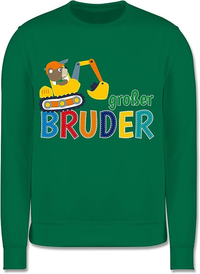 Geschwisterliebe Kind Shirtracer Gro/ßer Bruder Bagger Kinder Pullover
