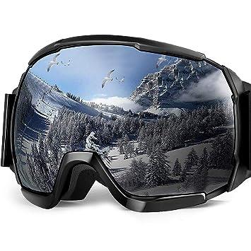 Skibrille, EletecPro Skibrillen Herren Damen Jugendliche Abnehmbarer Linse Helmkompatible Ski Schutzbrillen Wintersportarten Schneebrille