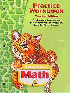 Amazon harcourt math practice workbook teachers edition grade harcourt math practice workbook grade 5 teacher edition fandeluxe Choice Image