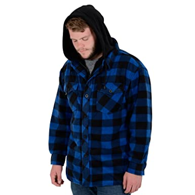 Mens Alaska Check Fleece Lumberjack Winter Gents Casual Work Shirt Jacket  Coat: Amazon.co.uk: Clothing
