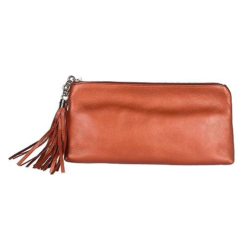 Gucci - Cartera de mano para mujer marrón bronce claro