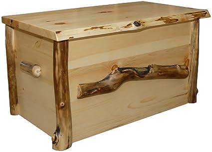 Amazon Com Furniture Barn Usa Rustic Aspen Log Blanket Chest