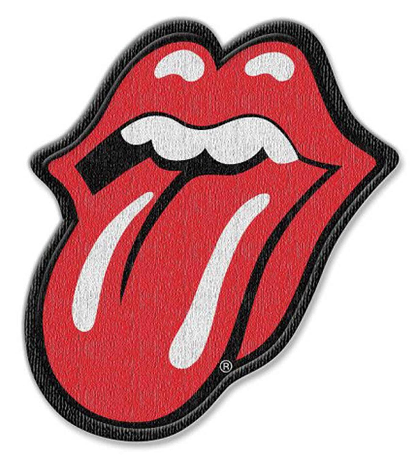 The Rolling Stones Patch Classic Tongue Logo cut out new Official Iron on The Rolling Stones Merch