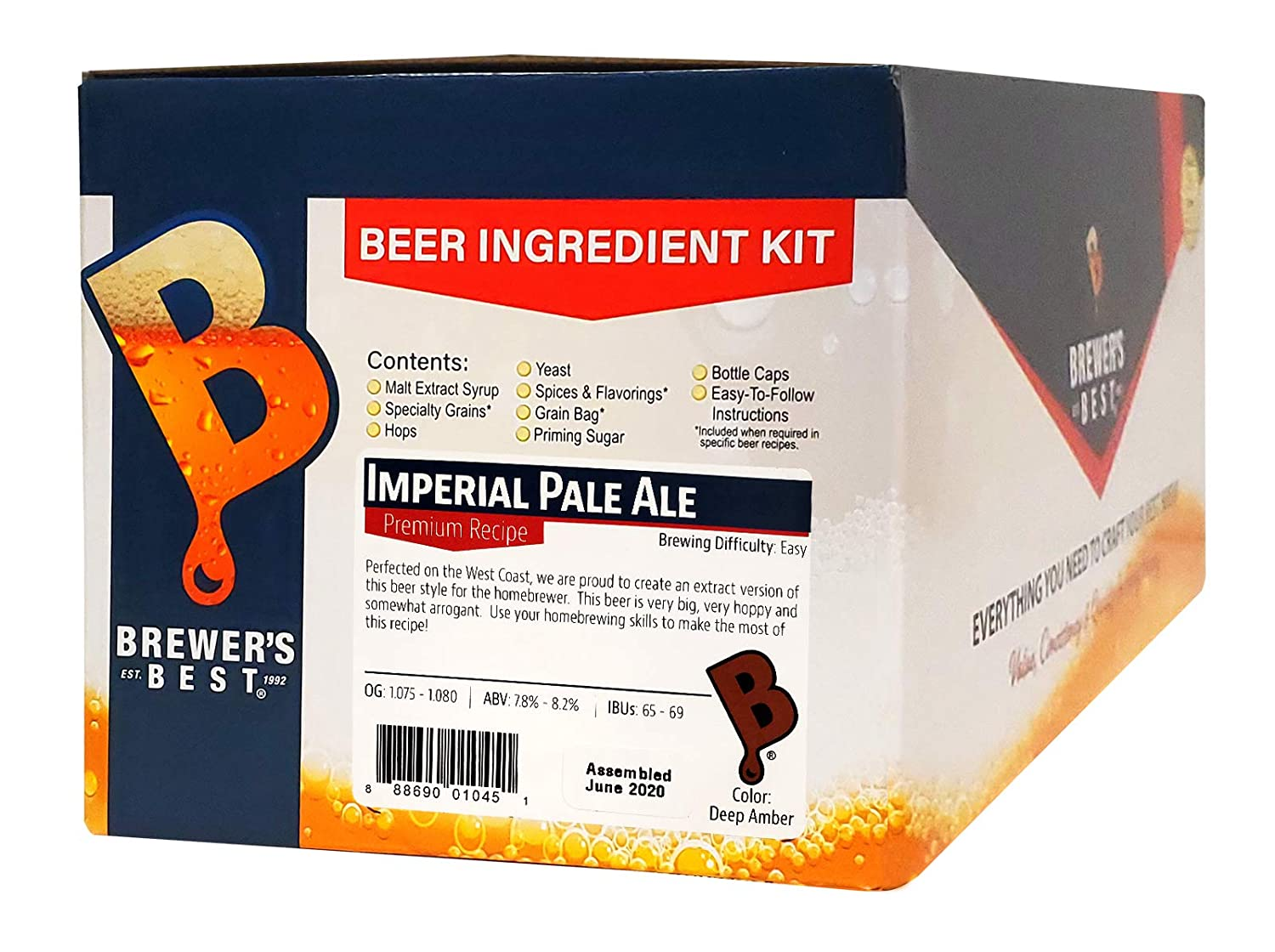 Home Brew Ohio Best Imperial Pale Ale Beer Ingredient Kit