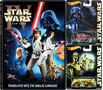 Amazon Com Star Wars Episode Iv A New Hope Navajo Limited Edition Dvd With Hot Wheels Pop Culture Darth Vader Spoiler Sport And C 3p0 Haulin Gas Die Cast 1 64 Cars Bundle Mark Hamill