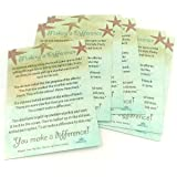 Starfish Poem Story 50 Laminated Cards for People