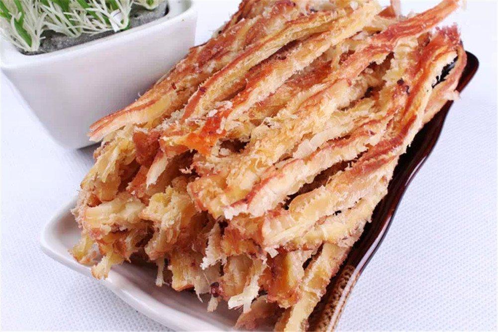 Qyz@ Hot Chinese Snacks Food: Fukelai Shredded Squid 7.0 OZ (200g)
