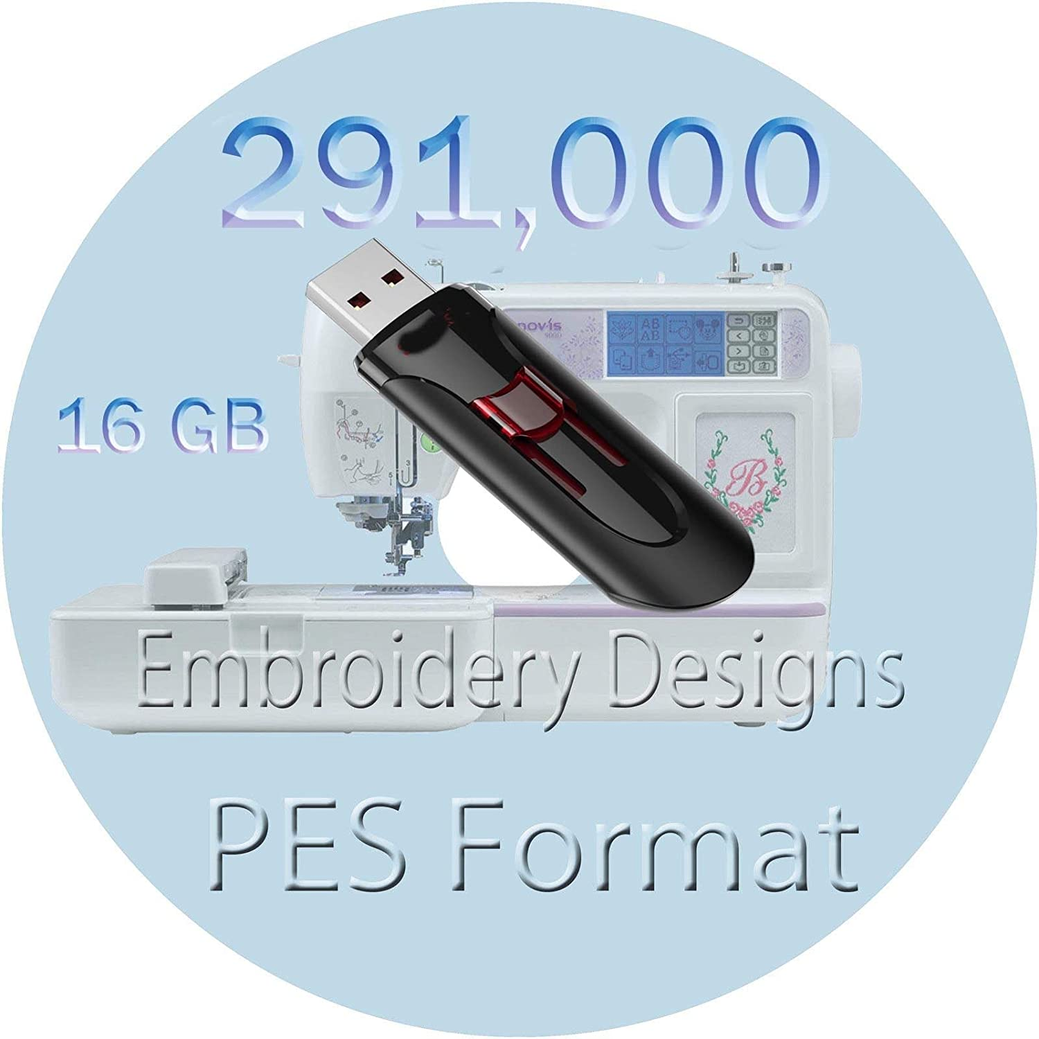 CD or USB machine embroidery designs files fonts most formats ALPHABET FLORAL