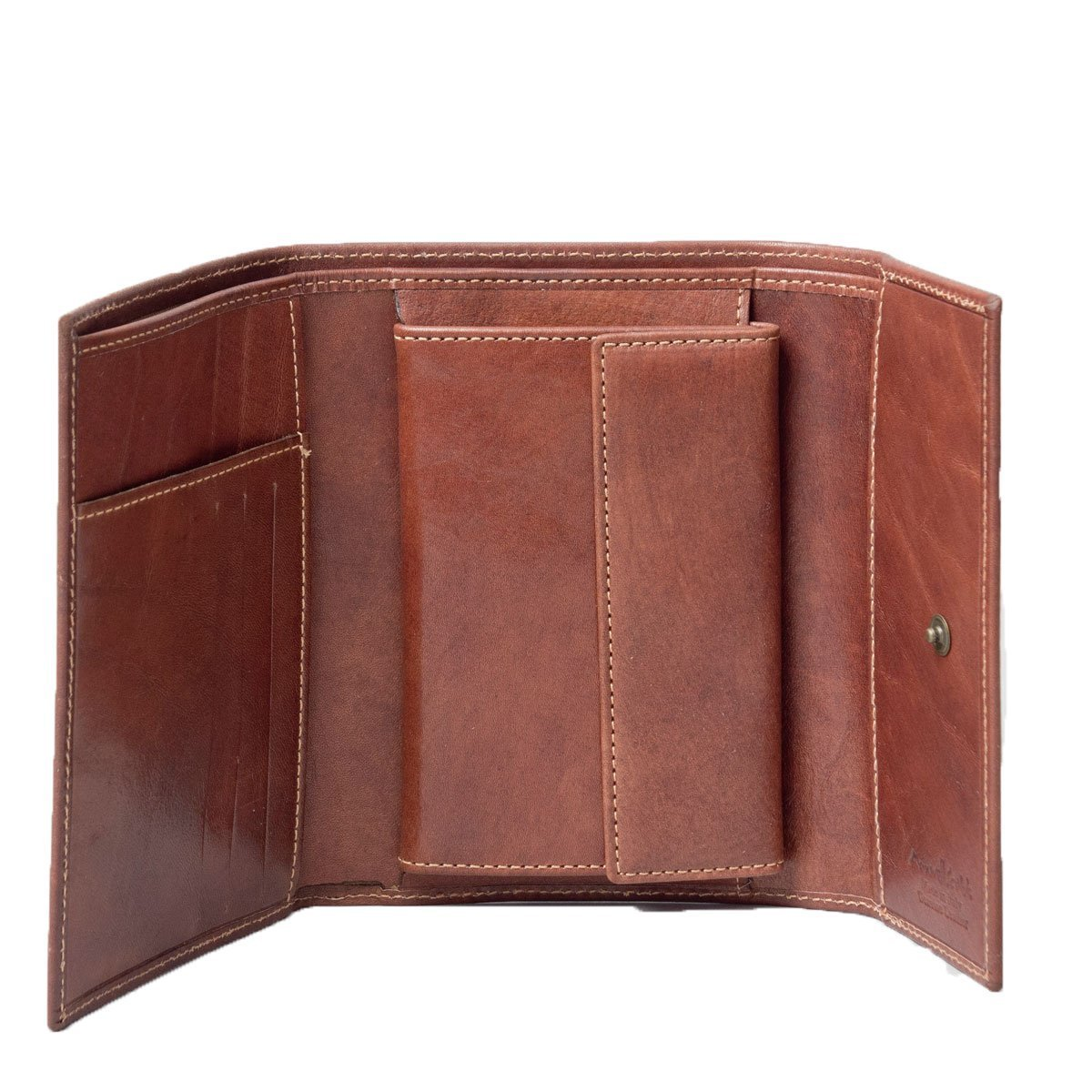 Maxwell Scott Luxury Tan Womens Leather Purse - Large (The Ponticelli)