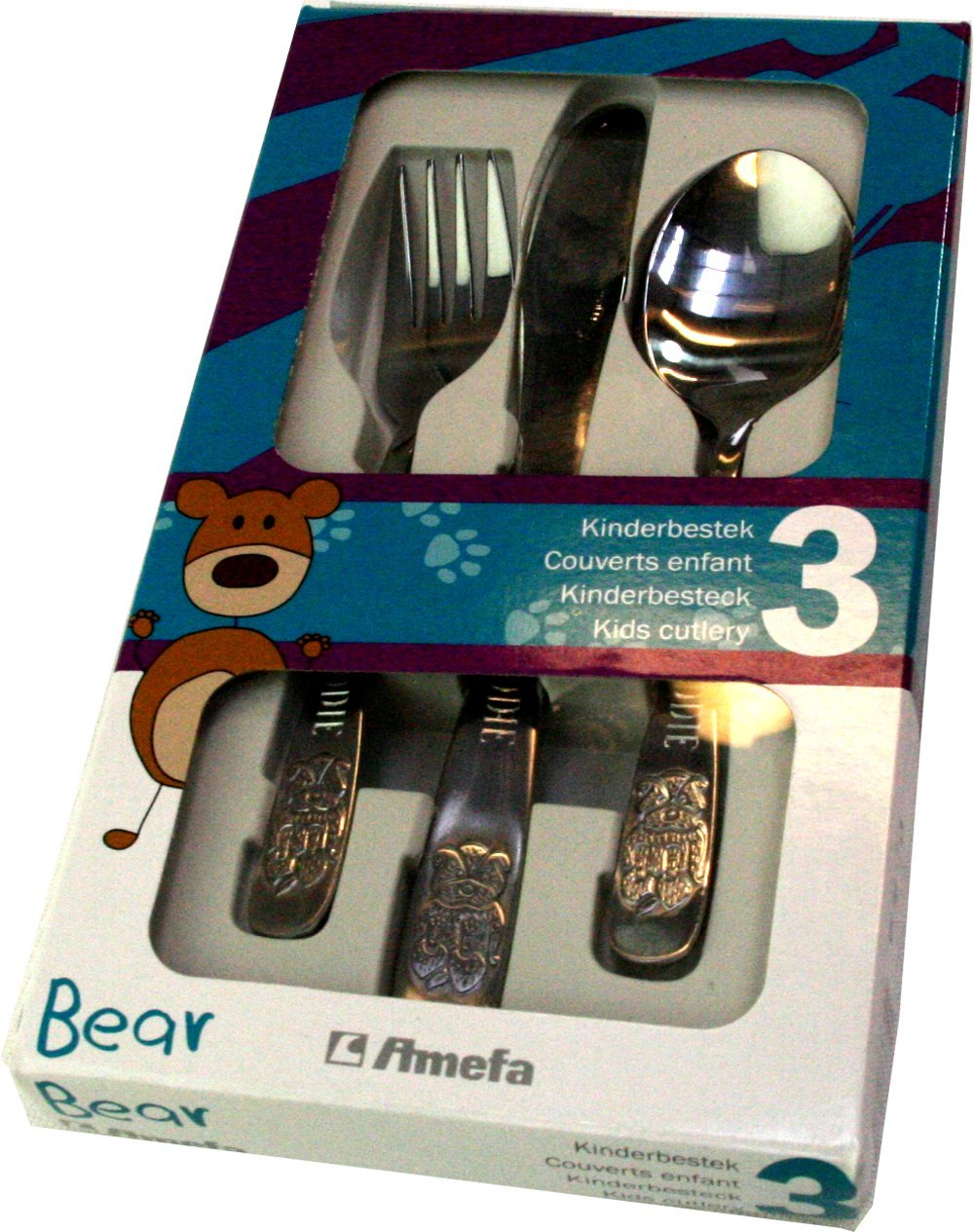Personalised 3Pce Cutlery Set