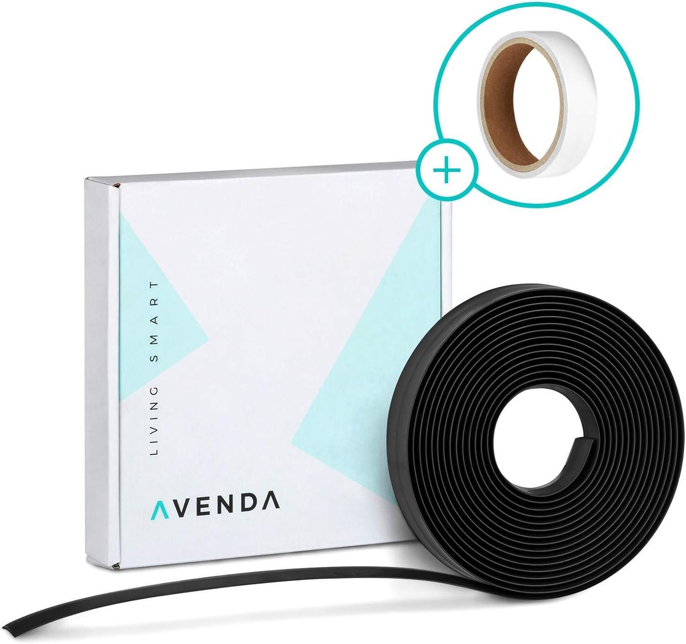 avenda Robot aspirador delimitar – Cinta magnética Robot aspirador – Tira magnética para aspiradora – PREMIUM CALIDAD – 5 m – Incluye cinta adhesiva doble cara 5,0 m Negro: Amazon.es: Hogar