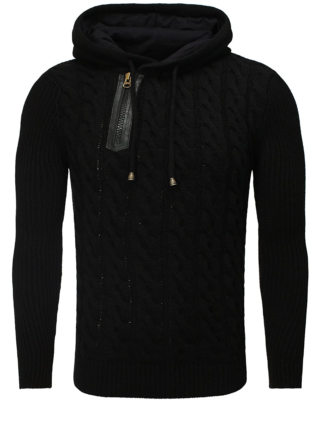 Knitted Jumper Men Sweater Tazzio black