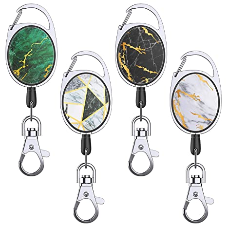 Amazon.com: YoungRich 4PCS Retractable Badge Reel ...
