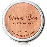 Opium Den Mustache Wax by The Bearded Bastard | A Strong Hold| Mustache Grooming, Men's Grooming, Hydrating, Essential Oils, Beeswax, Jojoba Oil, Mens Care, Facial Hair Products | All Natural,