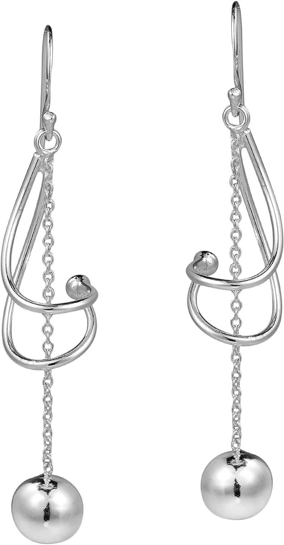 612B White Clear 925 Sterling Silver Plated Size Twist Drop Earring Dangle Earri