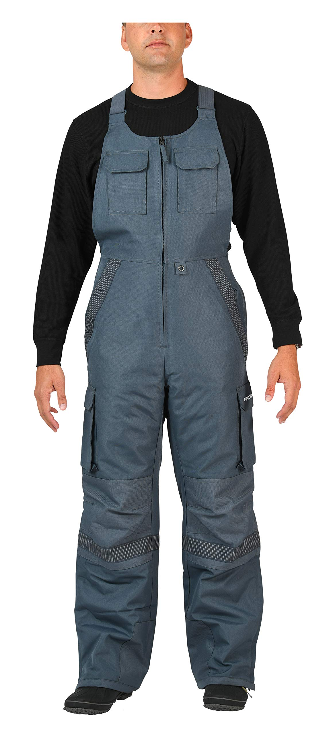 Arctix Men's Tundra Ballistic Bib Overalls With Added Visibility, Steel, 3X-Large by Arctix