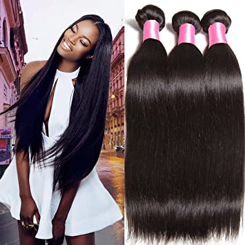 Amazon.com : Beauty Forever Hair Brazilian Virgin Straight Hair ...