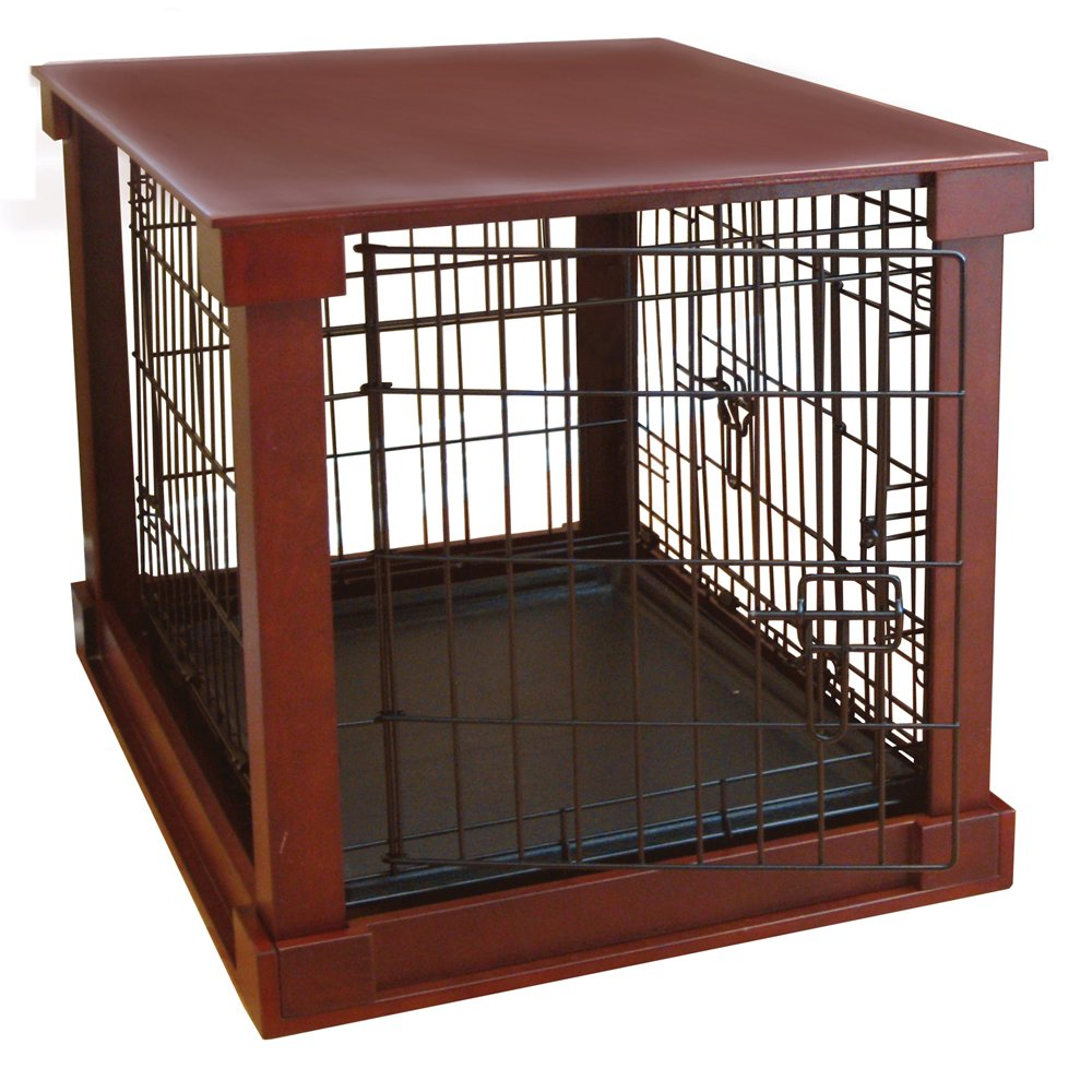 Amazon.com : Deluxe Pet Crate in Brown Size: Small (19\