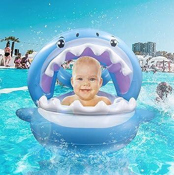 Amazon.com: TRSCIND Flotador de piscina para bebé, flotador ...