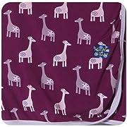 KicKee Pants Swaddling Blanket, Melody Giraffe