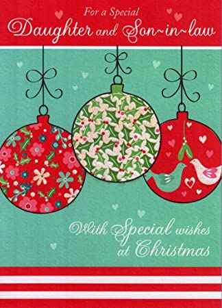 second nature daughter and son in law glitter christmas cards special xmas greeting card