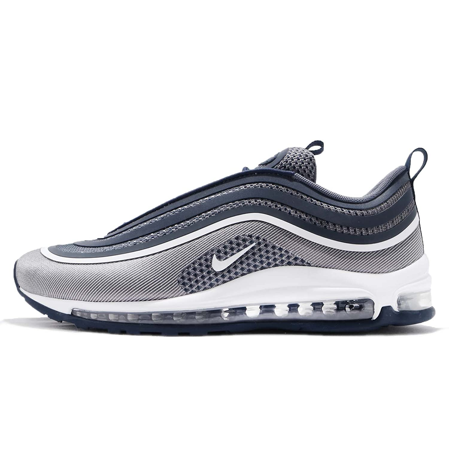 the latest 58428 95bd0 Amazon.com   Nike Men s AIR MAX 97 UL  17 Shoe White Navy Light Carbon (8.5  D(M) US)   Fashion Sneakers