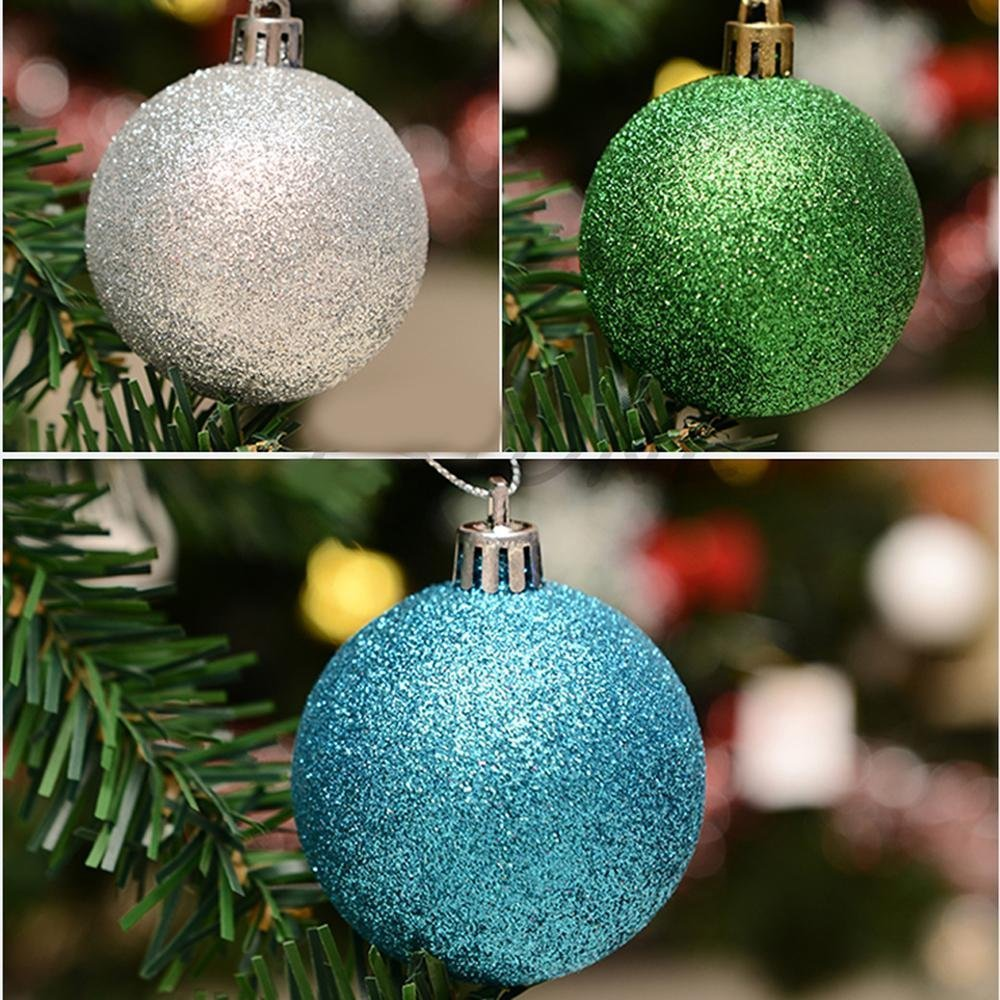 yaode 24PCS Christmas Ball Ornaments Shatterproof Christmas Decorations Tree Balls for Holiday Wedding Party Decoration Gold, 3CM // 1.18in